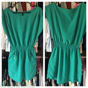 H&M Teal Loose Fitted Dress